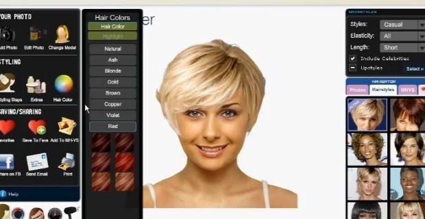 Simulateur coupe de cheveux femme