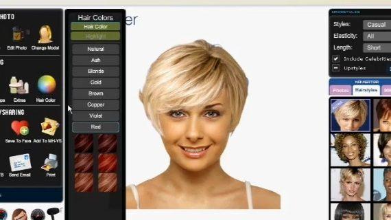 simulation coupe de cheveux femme